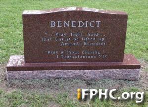 Benedict Grave Stone 2