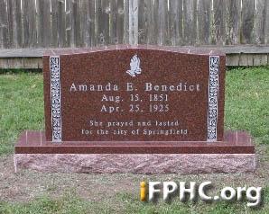 Benedict Grave Stone 1
