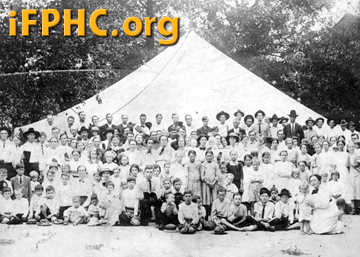 An early tent meeting in Geneva County, Alabama, about 1913