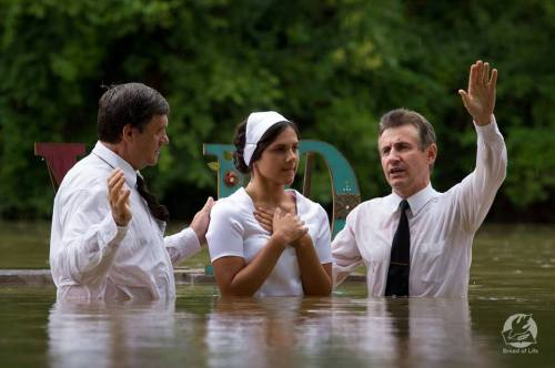 Water baptism, 2013. Bread of Life Christian Church (Rogersville, Missouri), a growing Slavic congregation affiliated with the Assemblies of God.