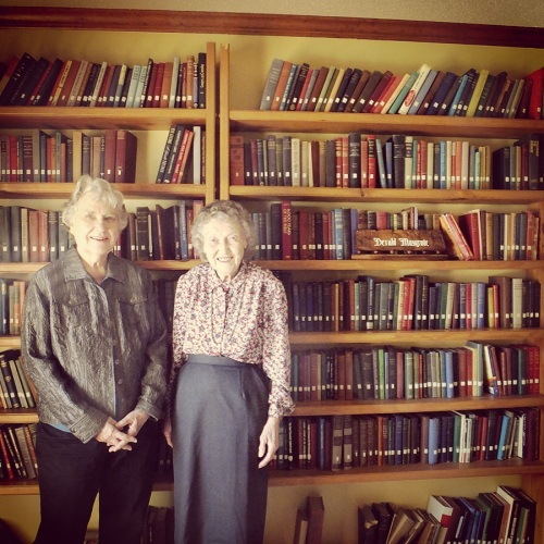 Peggy Musgrove (left) and Leota Morar (right) donated materials to the FPHC and the AG Used Book Clearinghouse.
