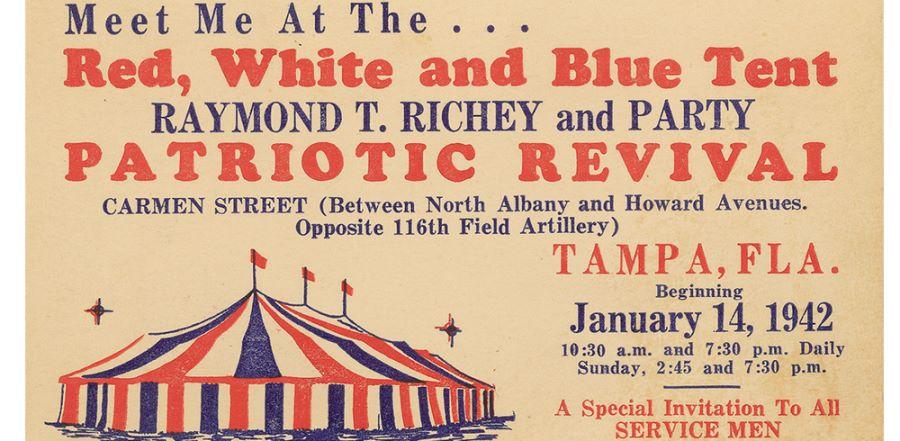 Advertisement for Raymond T. Richey tent revival 1942.  sc 1 st  Flower Pentecostal Heritage Center - WordPress.com & How Should Christians Respond to Global Turmoil? Three Pentecostal ...