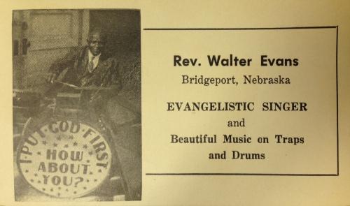 Evans Walter card